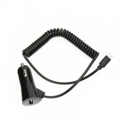 Универсално зарядно за кола BlueStar 3A - за Samsung, Huawei, HTC, LG, Nokia и др. с USB-C кабел (черно)