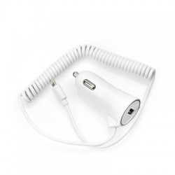 Универсално зарядно за кола BlueStar 3A - за iPhone 5/5s/5c/SE/6/6s/6+/6s+/7/8/7+/8+/X/Xr/Xs/Xs Max с Lightning кабел (бяло)