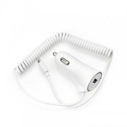 Универсално зарядно за кола BlueStar 3A - за iPhone 5/5s/5c/SE/6/6s/6+/6s+/7/8/7+/8+/X с Lightning кабел (бяло)