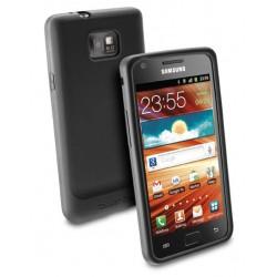 Черен силиконов кейс+Защитно фолио за екрана за Samsung Galaxy S2 / S2 Plus